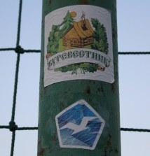 Fan stickers for Burevestnik Moscow.