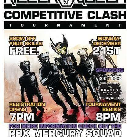 Image for Killer Queen Competitive Clash – Monday 12/21