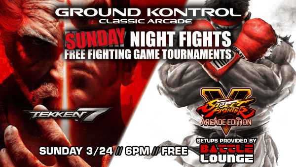 Events for January 22 - March 24Ground Kontrol
