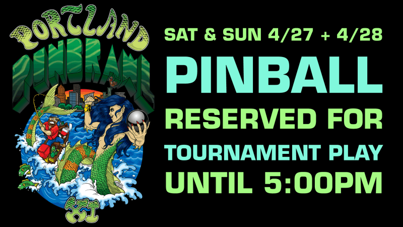 Image for Portland Pinbrawl XI Weekend Limited Pinball Availability
