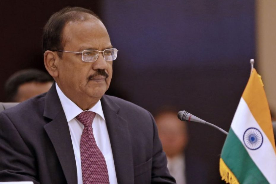 Indias National Security Advisor Ajit Doval listens during the first meeting of national security secretaries of Afghanistan, China, Iran, India and Russia, in the Iranian capital Tehran on September 26, 2018. (Photo by ATTA KENARE / AFP) (Photo credit should read ATTA KENARE/AFP/Getty Images)