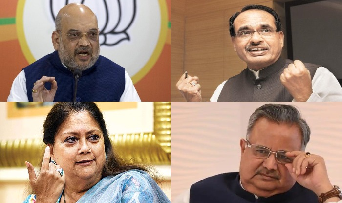 lok sabha elections 2019, bjp, shivraj singh chouhan, vasundhara raje scindia, raman singh, amit shah