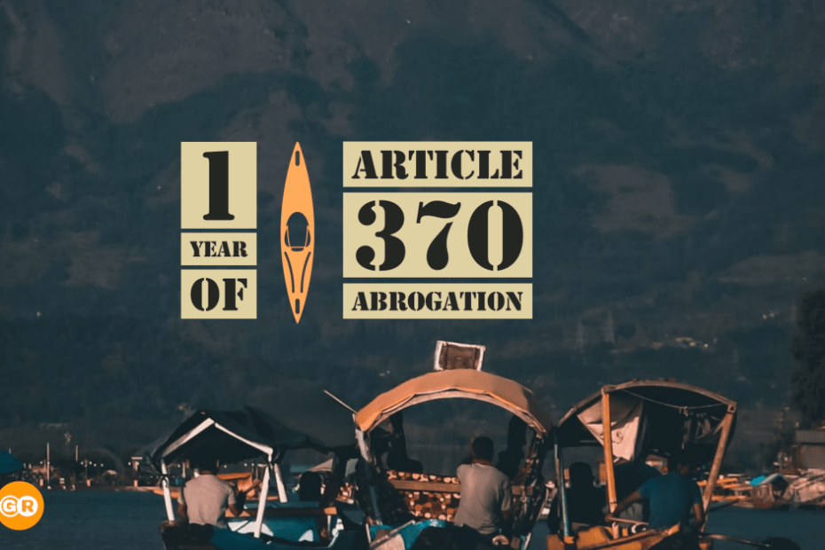 1 Year of article 370 Abrogation in kashmir