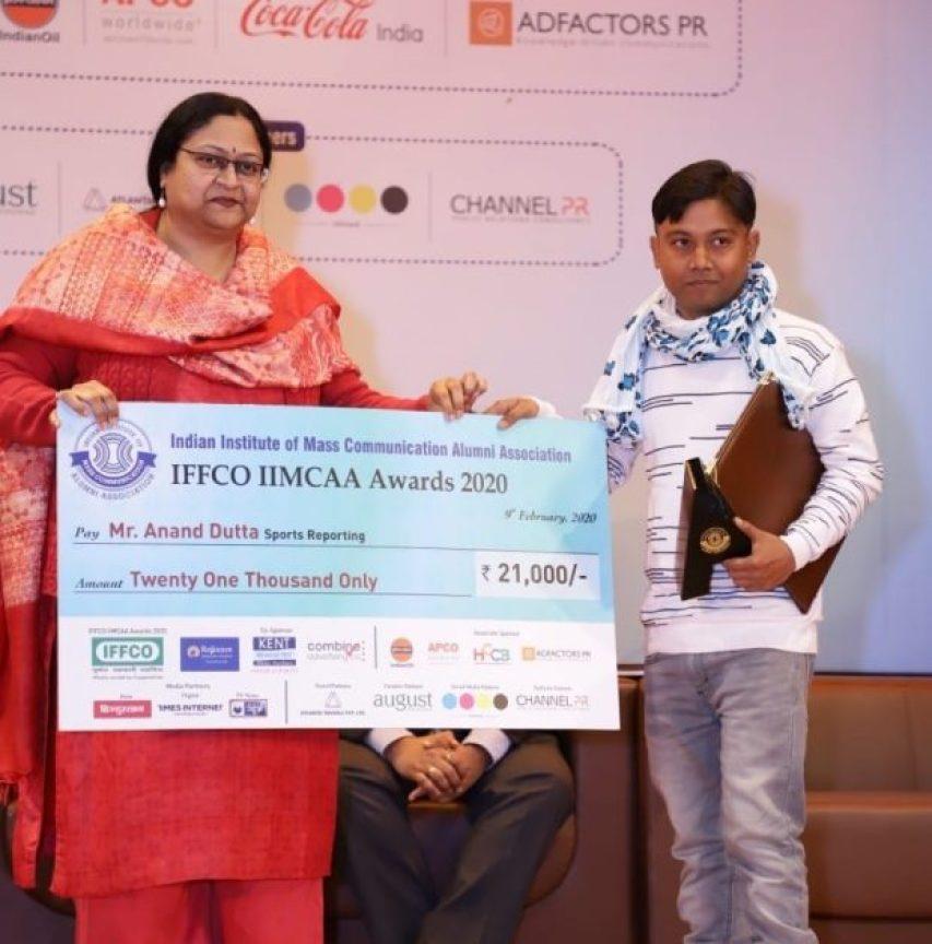 पत्रकार आनंद दत्ता झारखंड IIMCAA अवार्ड से सम्मानित