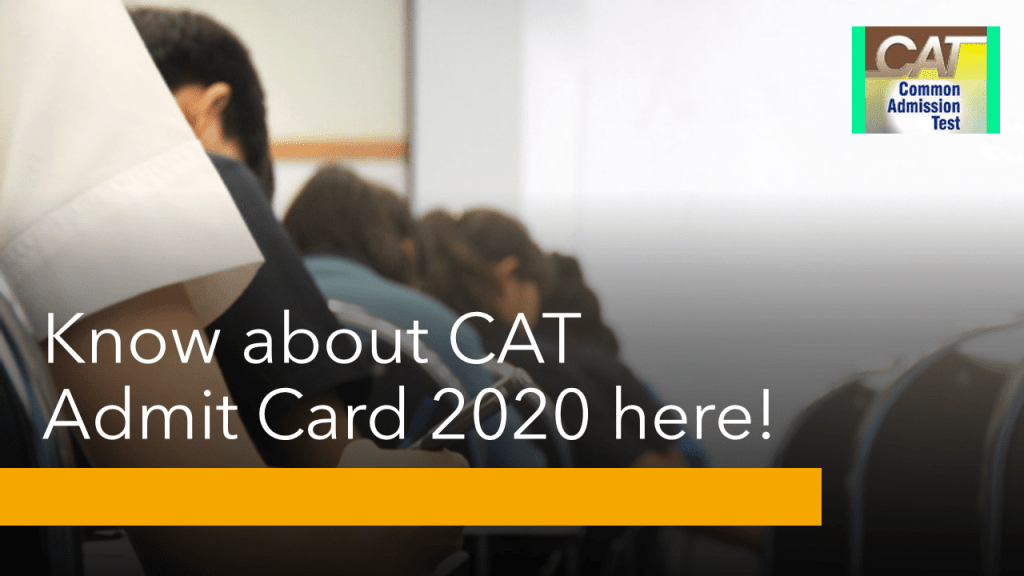 CAT 2020 Admit card