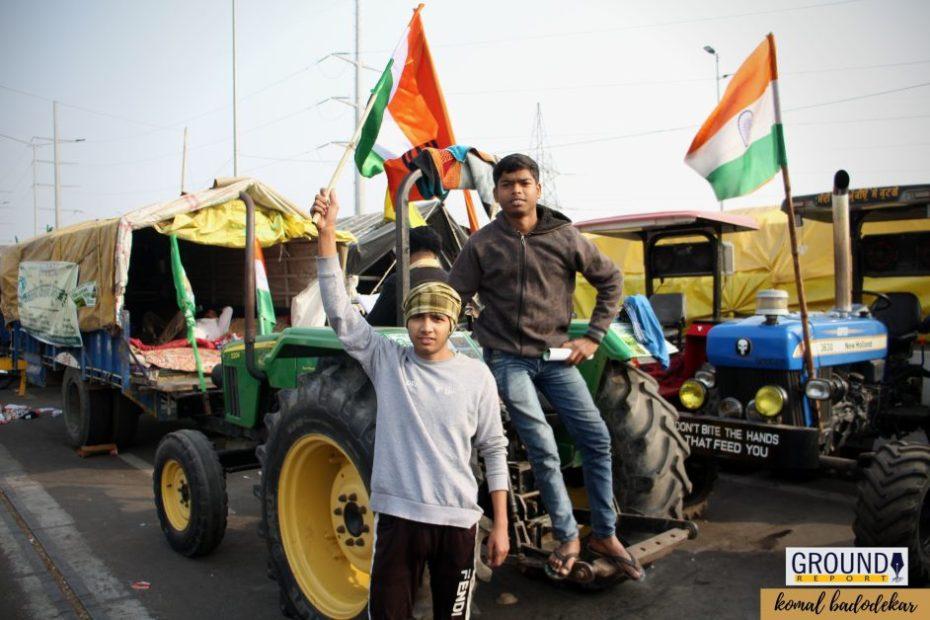 kisan andolan pics kisan andolan photographs kisan andolan picturs 26 janurary 2021 singhu border, gazipur border, delhi border,fermers protests, farmers pared, groundreport.in, ground report, kisan andolan ground report, komal badodekar,