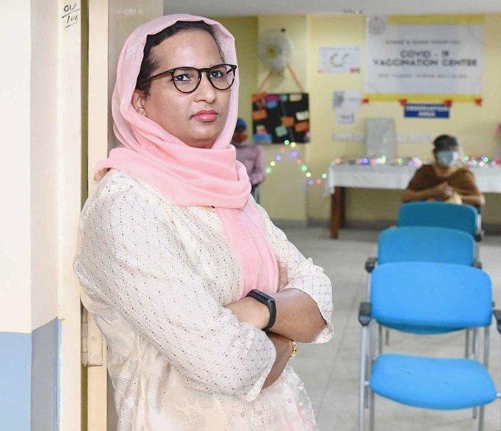 dr. Aqsa Shaikh 1s Transgender heading covid vaccinaion center