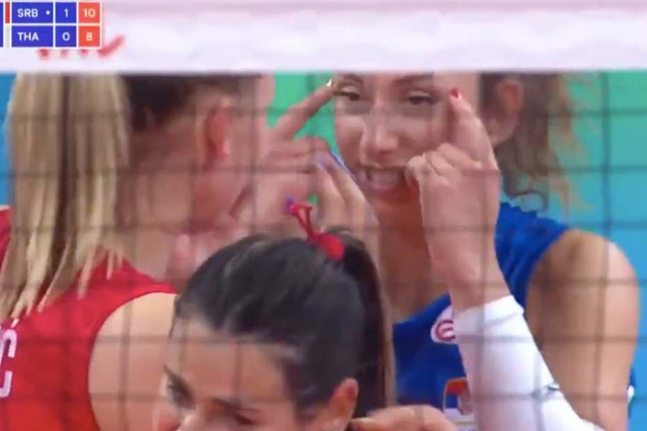 Sanja Djurdjevic: Serbia volleyball player banned after making racist gesture during Thailand match