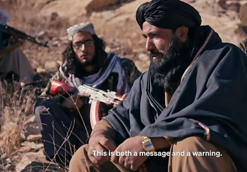 What is Taliban's message to US president Biden