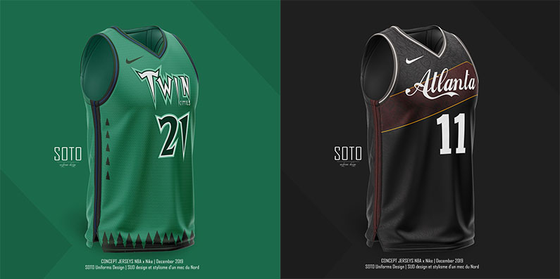 SOTO Uniforms Design NBA Atlanta Hawks Wilkins