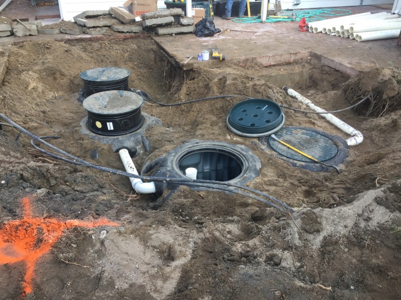 septic tank and pump chamber