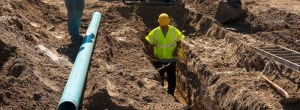 sewer line connection