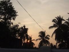 Magnificent sunset in Jaffna
