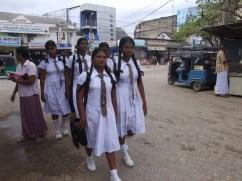 School girls on the street in Jaffna