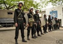 Riot Police Line
