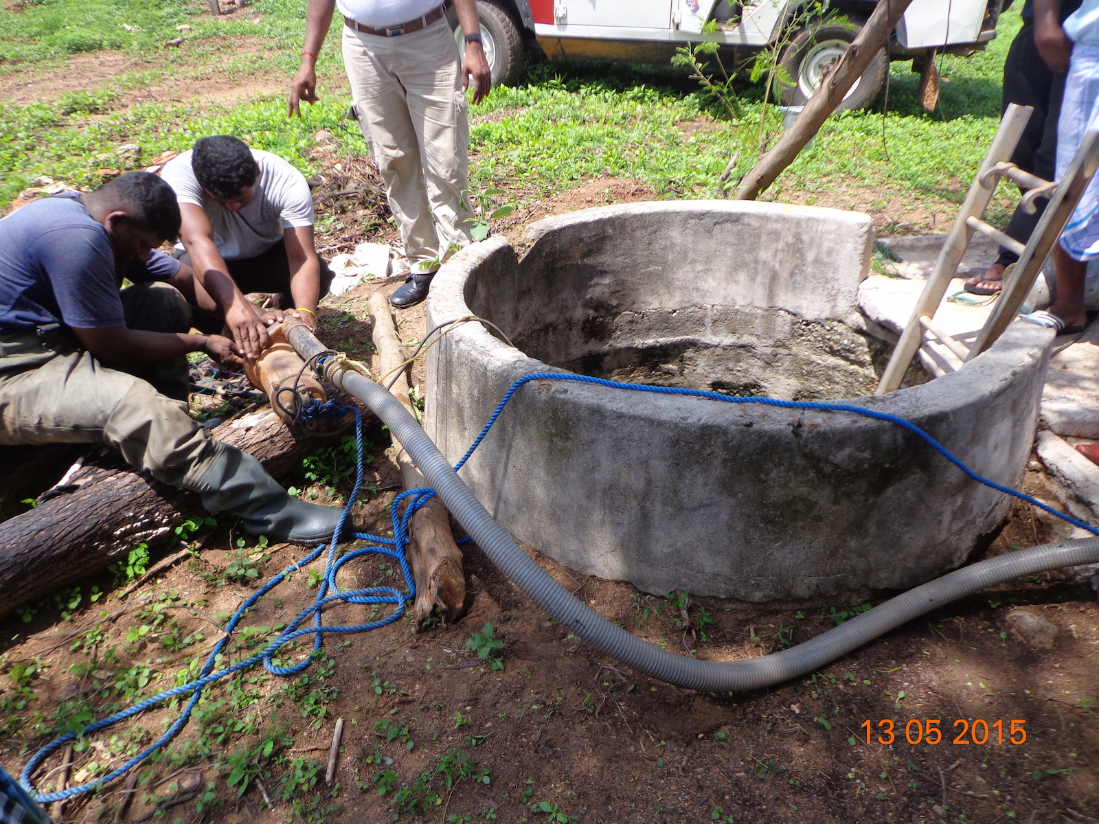 Cleaning of well by Halo Trust