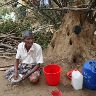 Mullikulam villagers forced to set up in jungle - Malankaadu - June 2012 - pic via NAFSO 2
