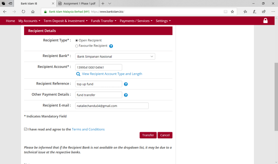 Online Money Transfer Site Title