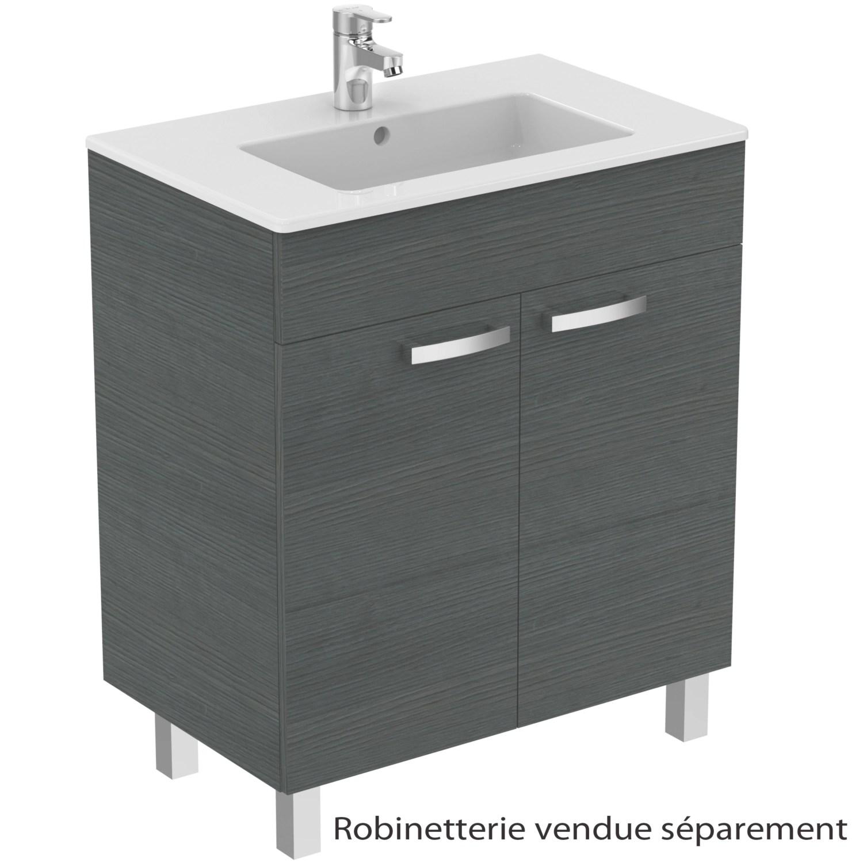 Meuble Sous Plan Et Plan Vasque Ulysse Sur Pieds 2 Portes 70 Cm Porcher Tereva Direct