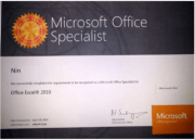 """Certification Microsoft Office-Specialist """"MOS"""""""