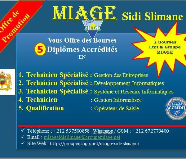 MIAGE Sidi-Slimane Formation professionnelle