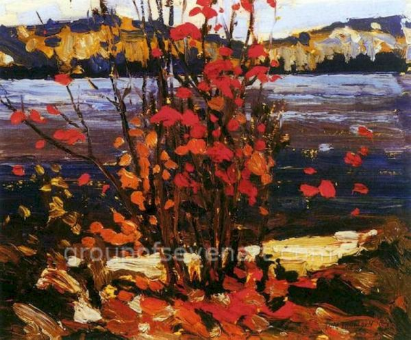 Lake And Red Tree 1916