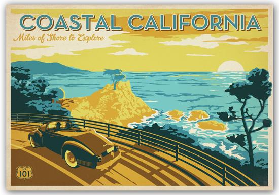 Framed Vintage Style Travel Prints