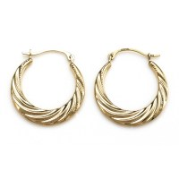 White Gold And Yellow Gold Hoop Earrings | White Gold