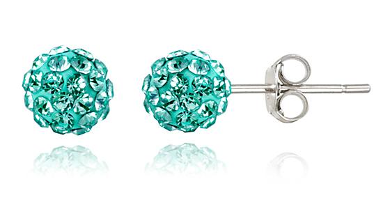 Crystal Fireball Stud Earrings