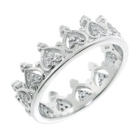 Sterling Silver Crown-Shaped Rings