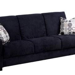 Galileo Cream Microfiber Queen Sleeper Sofa Sectional Sofas Black And Grey Home Decor 88