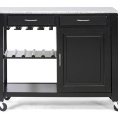 Modern Kitchen Cart Storage Solutions For Small Kitchens Island Carts Phoenix With Granite Top Black