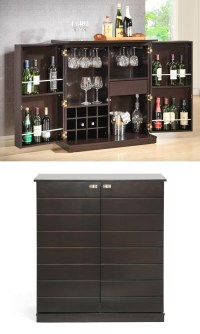 Modern Dry Bar and Wine Cabinets