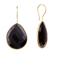 Onna Ehrlich Gemstone Teardrop Earrings