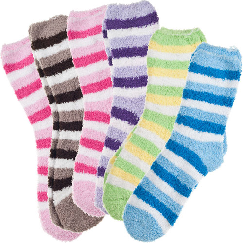 15 For A Six Pack Of Fluffy Cozy Fuzzy Socks Groupon Goods