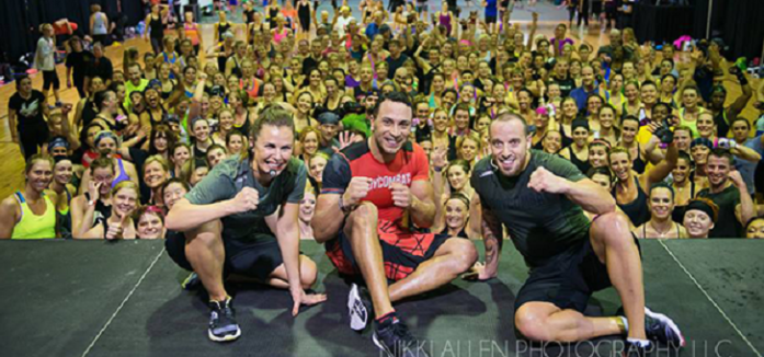 A fitness convention master class