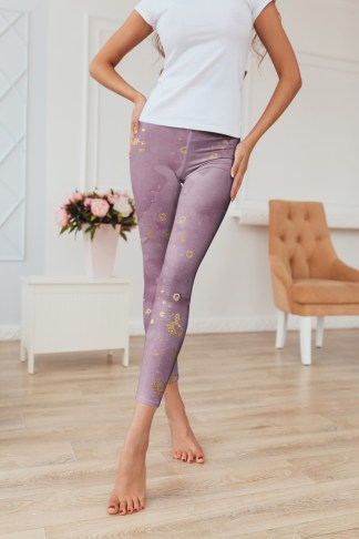 Mauve-leggings