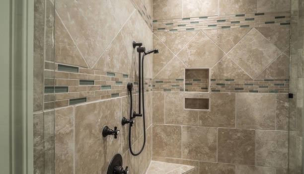 can shower water leak through grout