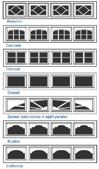 short windows for mid america garage door