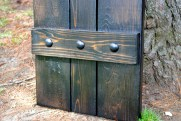 Bistro Walnut Shutter with Decorative Clavos