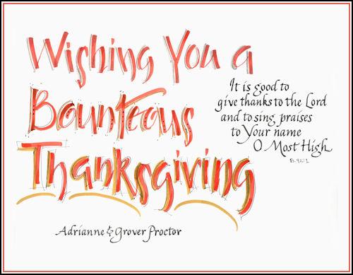Bounteous Thanksgiving