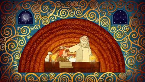 From the film version of The Book of Kells