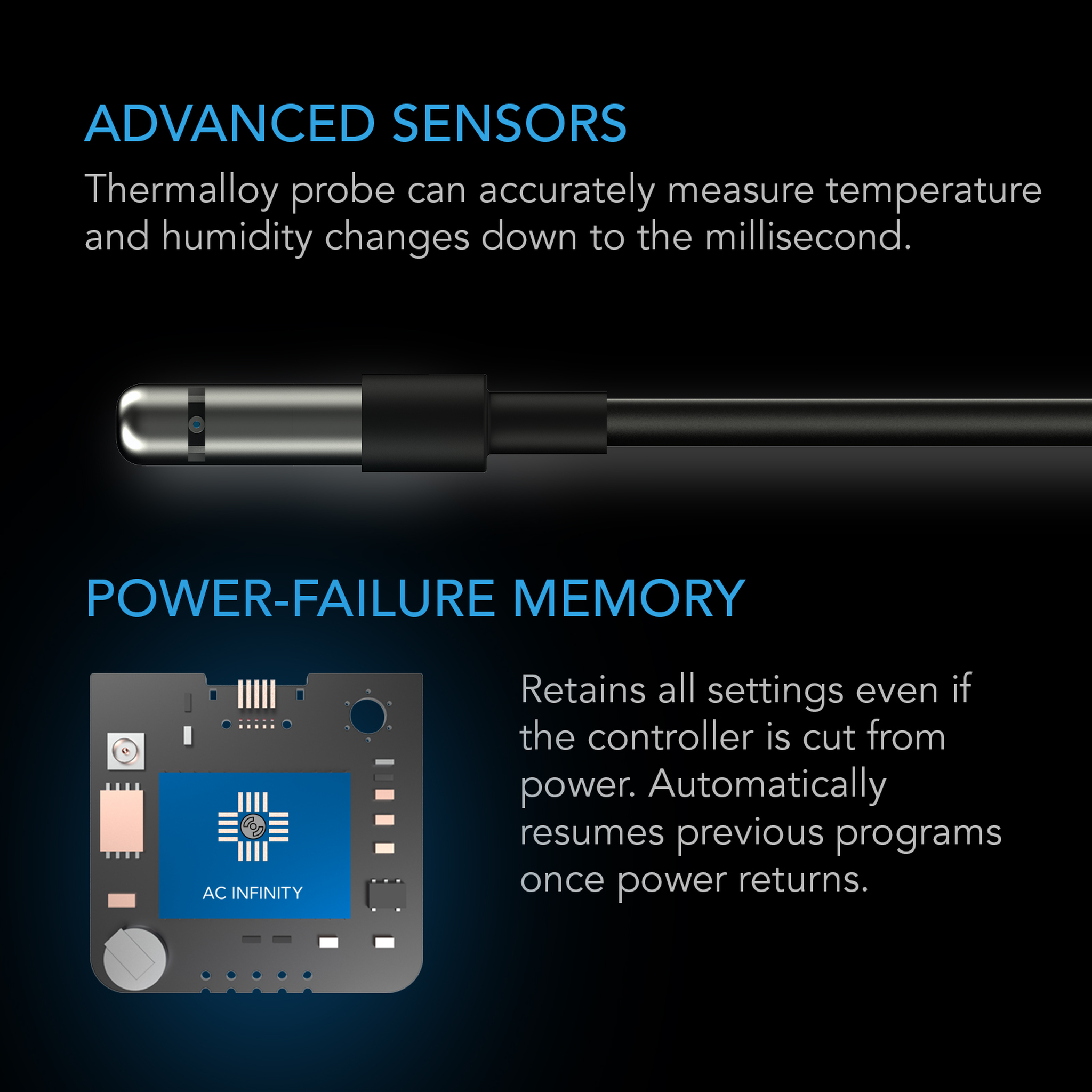 Advanced Sensors and Power-failure memory