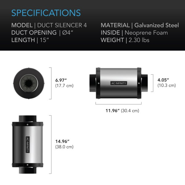 Duct Silencer 4 Dimensions