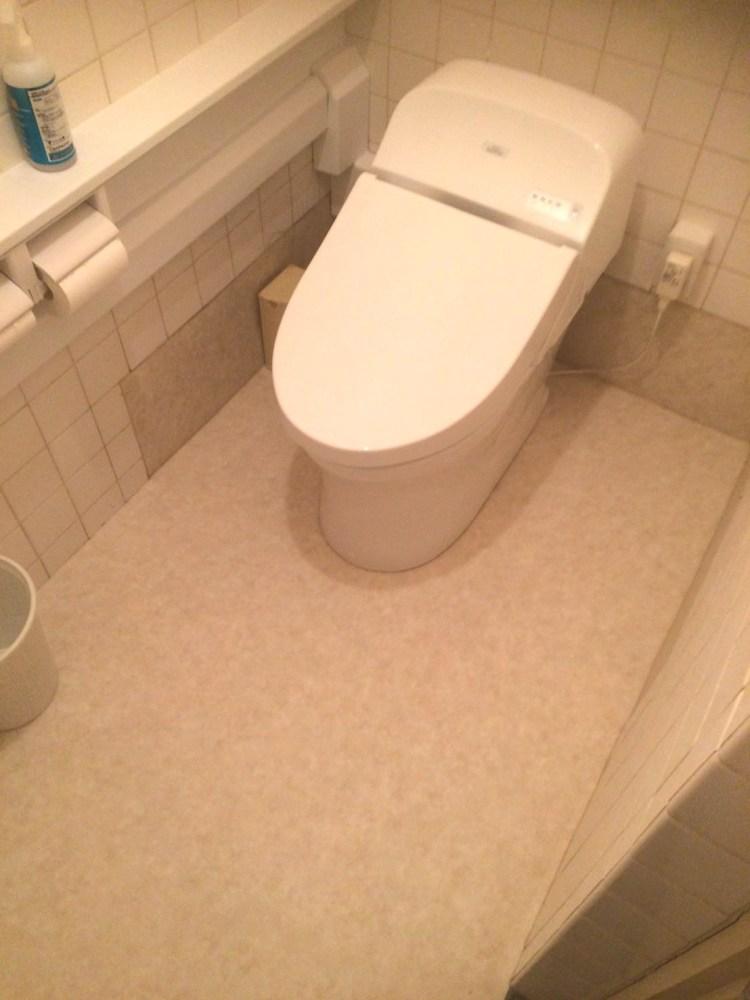 トイレのリフォーム後の写真。トイレリフォーム施工、取り付け、取り外しならトイレリフォーム業者(トイレ工事店)水洗トイレへの交換、便器交換