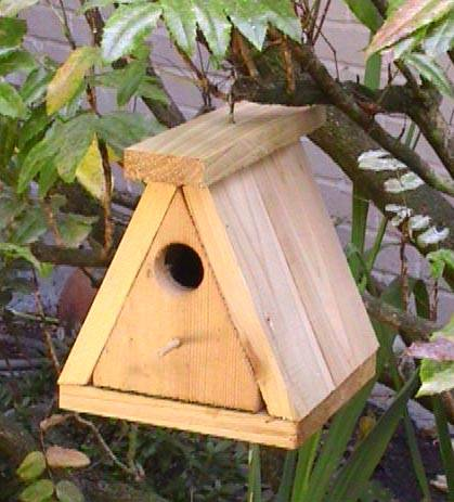 Wooden bird house woodworker magazine for Types of birdhouses for birds