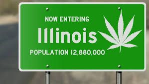Illinois Cannabis Welcome Sign