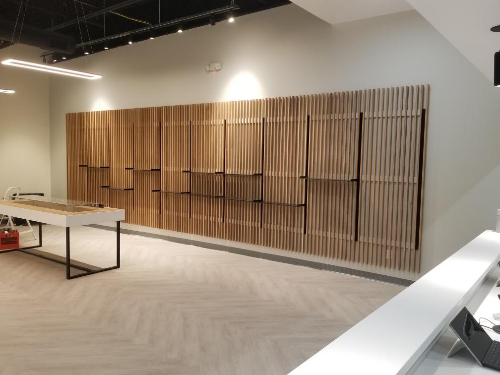 Dispensary shelves built by GAB