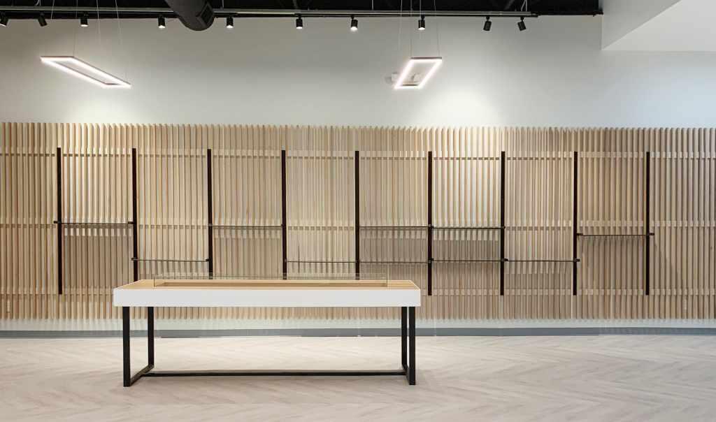 Empty Shelves of Cannabis Facility