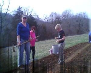 Potato planting 3/21/14